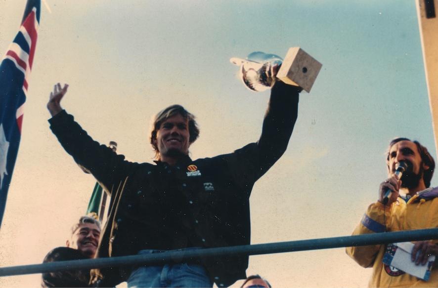 Clyde Martin en la entrega de premios de la expression session de 1990